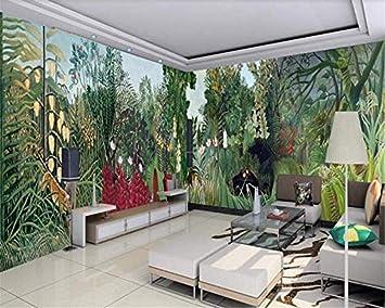 Papel tapiz de seda mural senior Retro europeo gigante pintado a ...