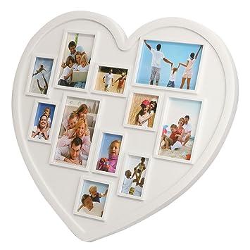 Amazon.de: Inovey 11 Bilder Herzform Familie Bilderrahmen Halter ...