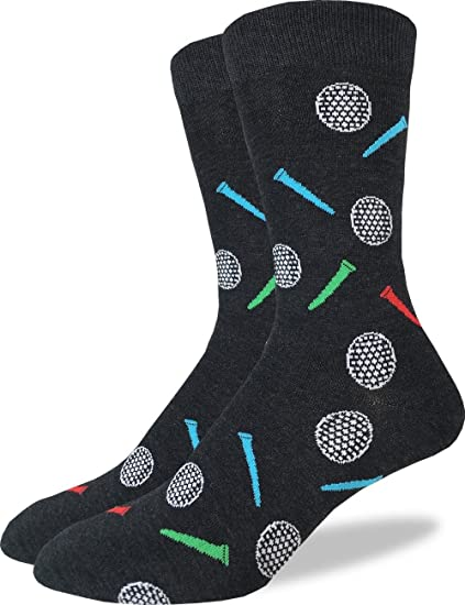 2eaecb2e8577 Image Unavailable. Image not available for. Color: Good Luck Sock Men's  Golfing Crew Socks - Grey ...