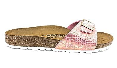 BIRKENSTOCK Madrid BS Damen Sandalen Pantoletten Schmale Weite Rose aKr6m