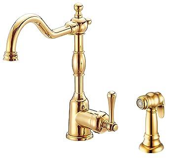 Danze D401157pbv Opulence Single Handle Kitchen Faucet With Side