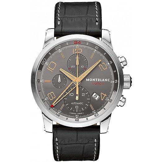 Montblanc Reloj de hombre automático 43mm correa de cuero de cocodrilo 107063: MontBlanc: Amazon.es: Relojes