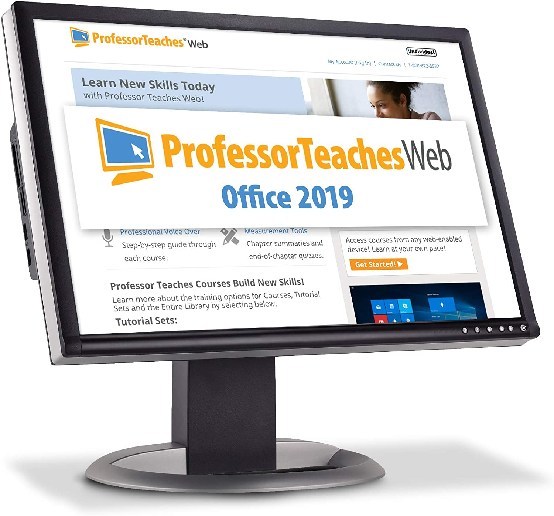 Professor Teaches Web - Office 2019 - Annual Subscription [PC Online code]
