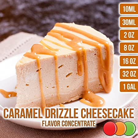 Amazon.com : OOOFlavors Caramel Drizzle Cheesecake Flavored Liquid Concentrate Unsweetened (30 ml) : Grocery & Gourmet Food