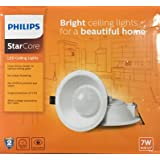 Philips Star Core LED Ceiling Light (Down Light) 7W Warm White - Round