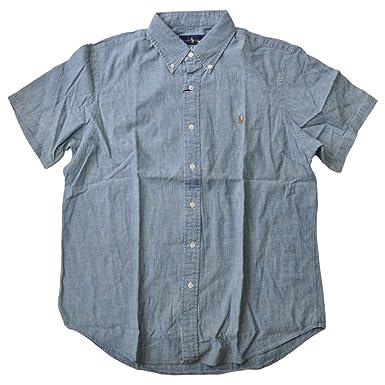 50fd23ed RALPH LAUREN Polo Men's Short Sleeve Denim Sport Shirt, Chambray, ...