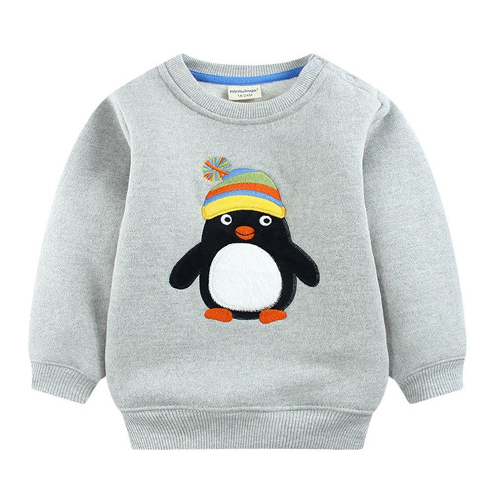 Juleya Baby Boy Cartoon Sweatershirt, Cotton Cute Sweater Long Sleeve T-Shirt Fleece Thicken Jumper Hoodies Winter Clothes M171113ETWY03-J