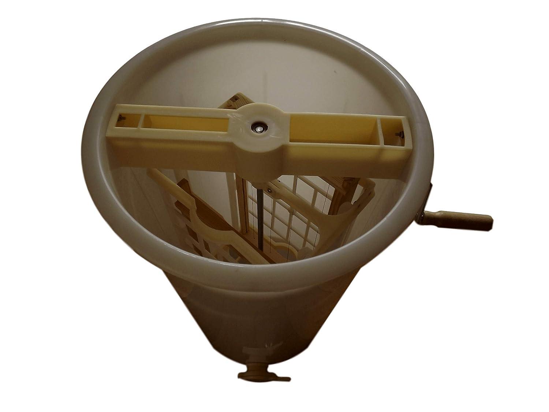 Fits British Nation Super or Brood Frames and Langstroth Frames Strong Plastic 2 Frame Manual Honey Extractor