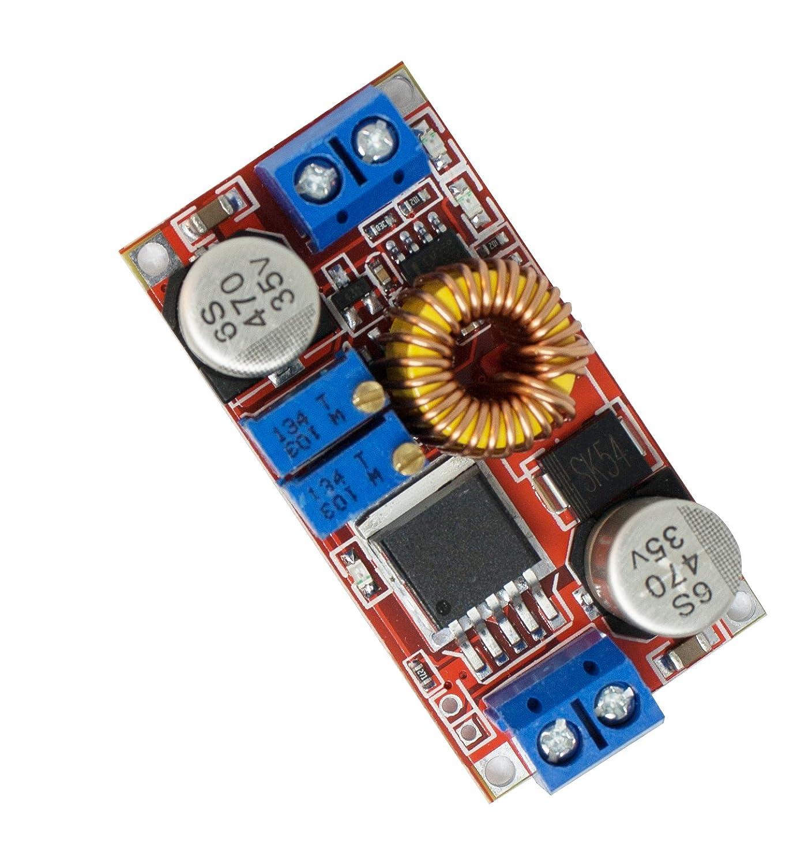 MissBirdler DC –  DC Step Down Rojo, Voltaje Corriente, Voltaje Regulador strombegrenzer xl4015e de 6 –  38 V a 1.25 –  36 V Arduino BEC 3D Printer 4260509784481