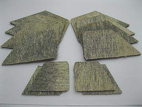Pool Table Rail Facings Set of 12 Cushion Facings