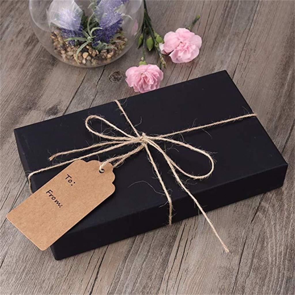 100 pies cuerda de yute natural ToDIDAF Etiquetas de papel kraft para colgar etiquetas rectangulares de boda