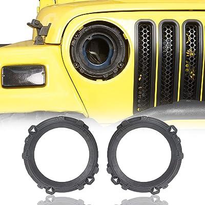 "u-Box Jeep Wrangler TJ 1997-2006 7"" Headlight Mount Bracket Ring: Automotive"