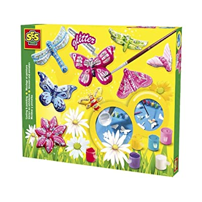 SES Creative Butterfly Glitter Plaster Casting and Painting Kit: Toys & Games