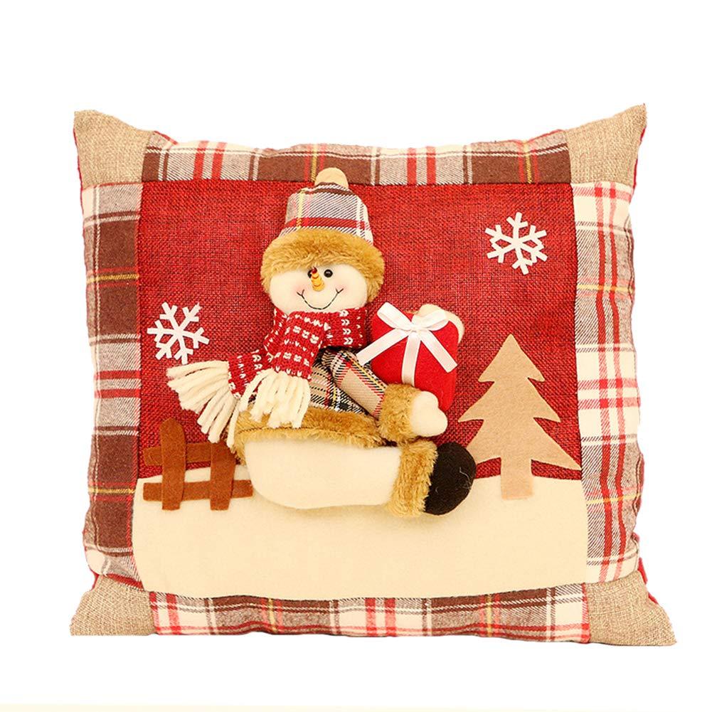 Emorias 1 Pcs Almohada de Navidad Sofa Decorativos Cómodo ...