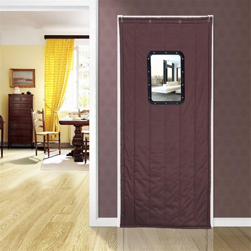 Cortina térmica Icegrey para aislamiento de puertas, panel de protección, cortina de aislamiento térmico, aislamiento acústico, a prueba de viento, ICG-YONGT-001-6-100x210cm: Amazon.es: Bricolaje y herramientas
