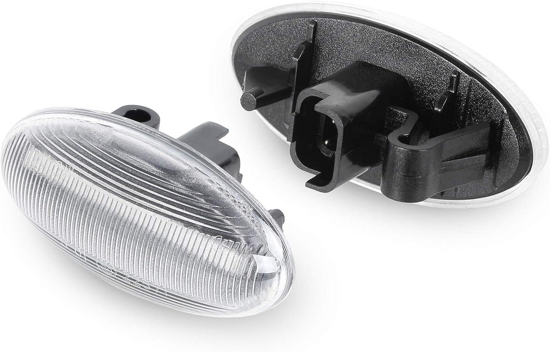 dynamisches Blinken GUANGGU LED-Seitenmarkierungsblinker f/ür Mini Cooper R50 R52 R53 2001 get/önte Linse bernsteinfarben Richtungsanzeigeleuchten 2006