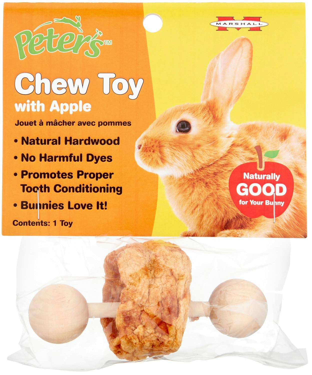 Peter's Chew Toy with Apple for Small Animals, 36 Pack