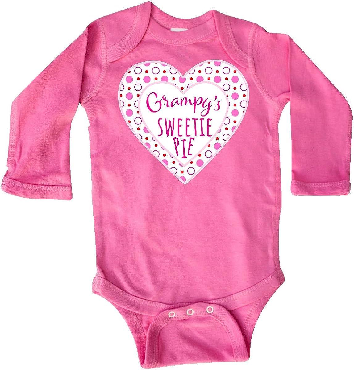 inktastic Grampys Sweetie Pie with Pink Hearts Long Sleeve Creeper