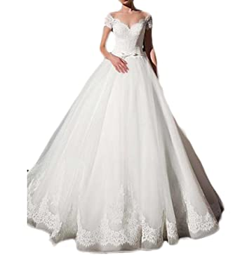 Gotidy Vintage Inspired Vestido De Novia 2018 Lace Bridal Wedding Gowns Women G38 at Amazon Womens Clothing store: