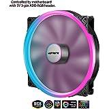 upHere P200RGB-Hydraulic Bearing 200mm 5V RGB PWM Fan for Computer Cases