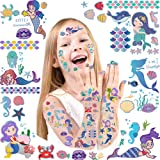 Mermaid Temporary Tattoos for Kids - Glitter Styles Mermaid Body Stickers,Waterproof Mermaid Fake Tattoo Stickers and…