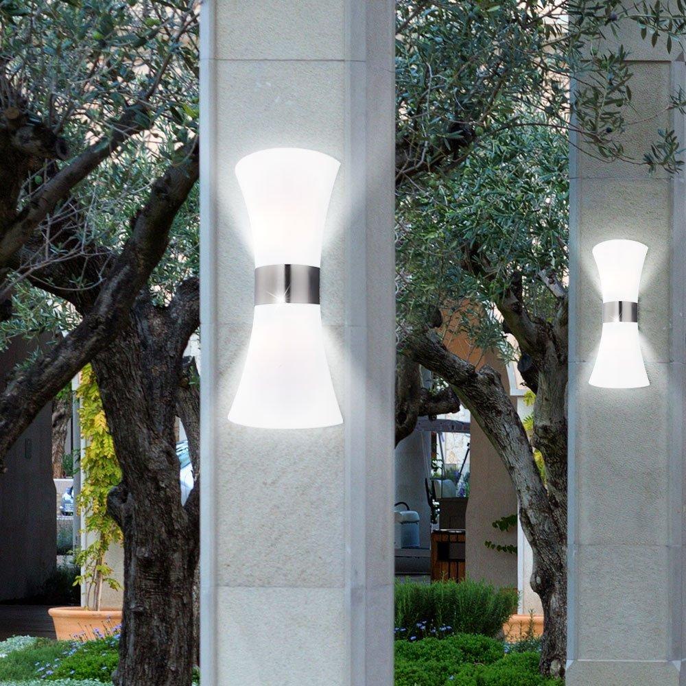 LED 13 Watt Au/ßenleuchte Wandleuchte Garten Lampe Edelstahl Up Down Haus Wand Lampe