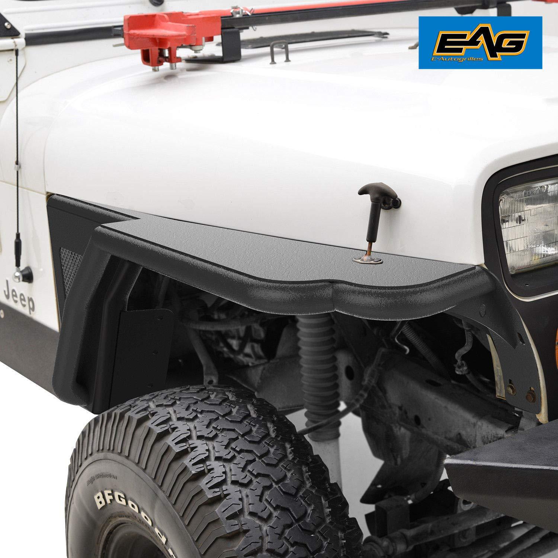 EAG Front Tube 3 Fender Flare Rocker Guard Fit for 87-96 Jeep Wrangler YJ