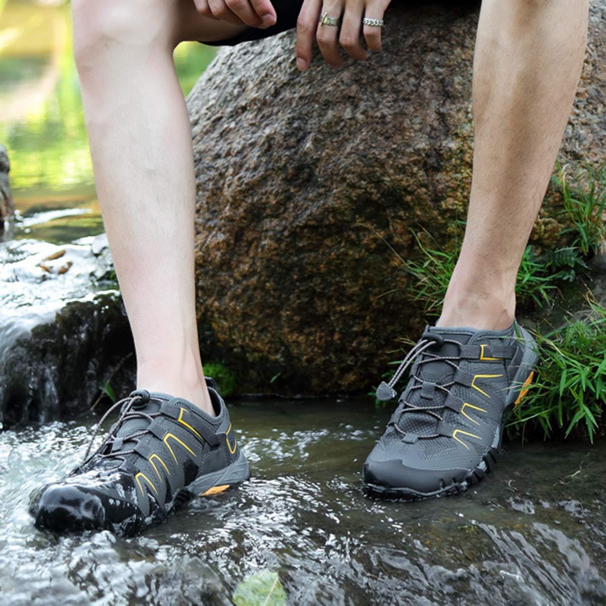 DSX Herren-, Outdoor-Schuhe, Schnell Trocknendes Mesh, Watschuhe, Camping-Wanderschuhe, Weiche und und und Bequeme Wanderschuhe, grau, 42EU  bb6eb5