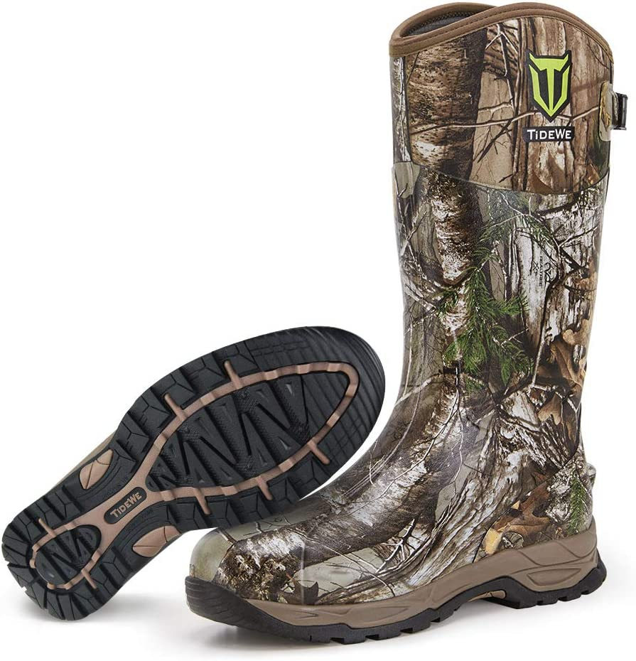 Portland Mall TIDEWE Rubber Hunting Boots Mos Waterproof Insulated Realtree free shipping