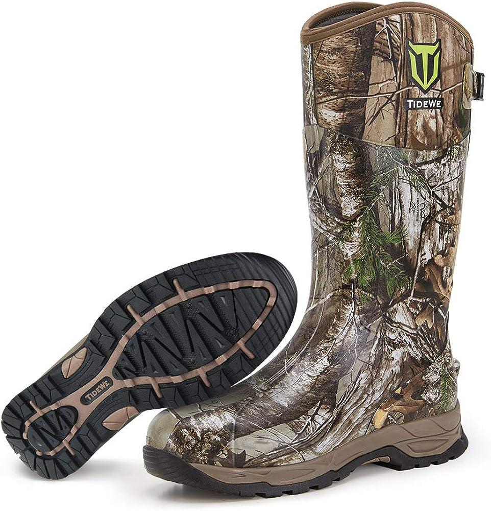 TIDEWE Rubber Hunting Boots, Waterproof