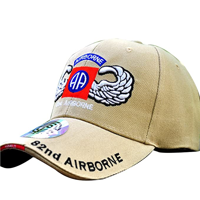 VATANERS.SR US Army The 82nd Airborne - Beige Embroidered Military ... a85e924f337