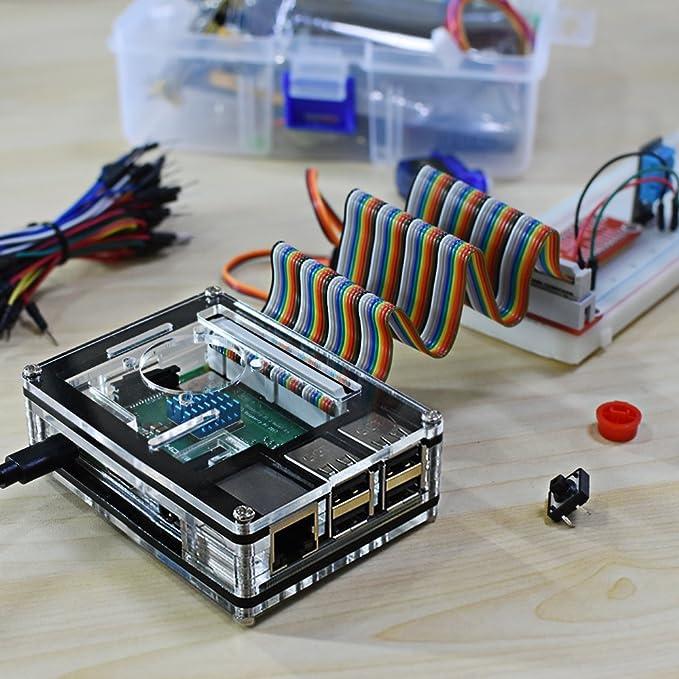 Amazon.com: Miuzei - Carcasa para Raspberry Pi 3 B+ con ...