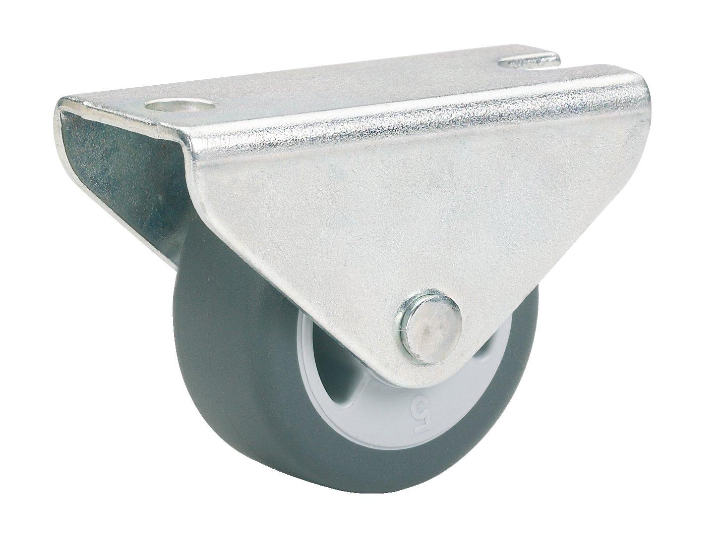 Dö rner + Helmer Parkett-Bockrolle (50 x 19 mm, TPE-Rad) grau, 791340 DÖNER + HELMER