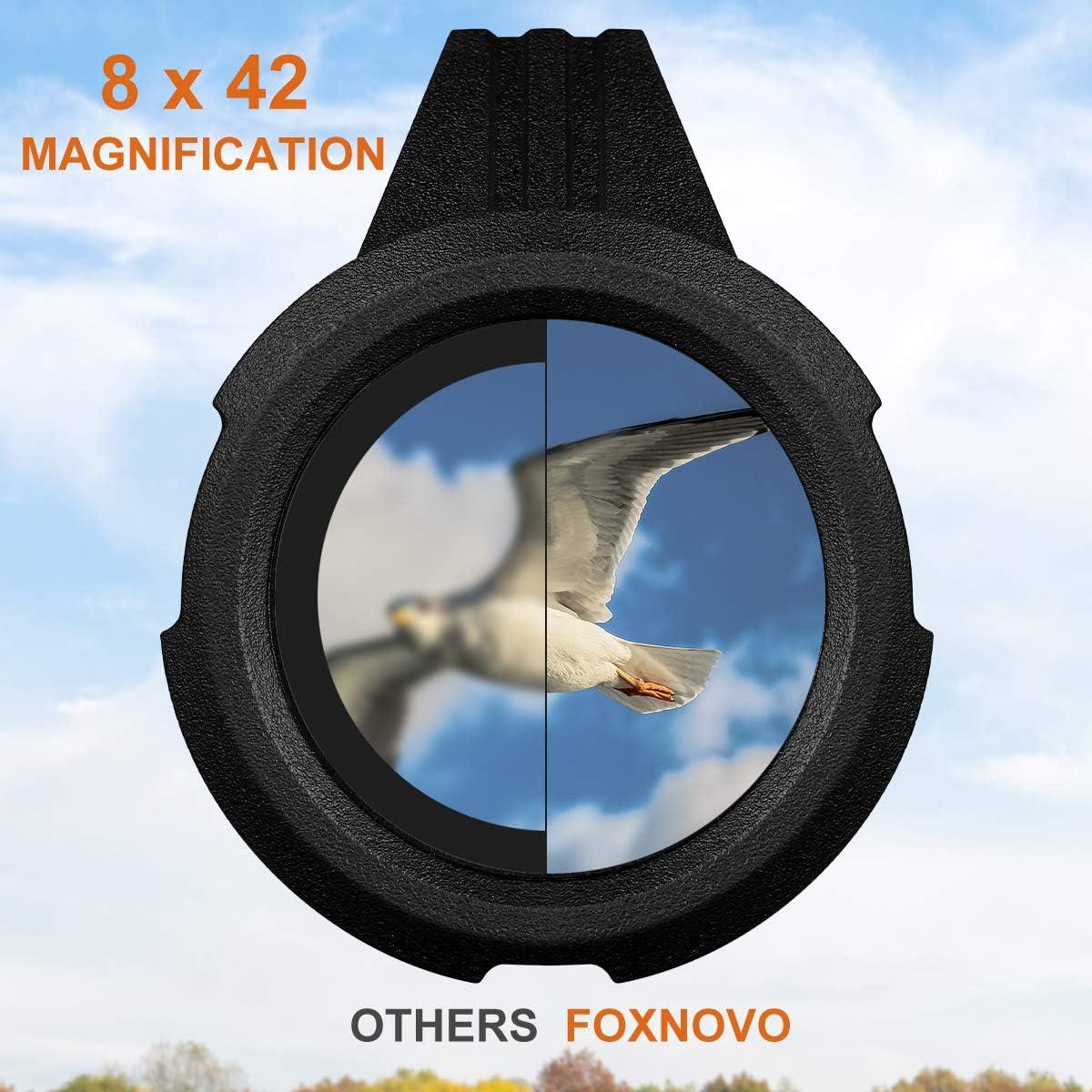 Foxnovo Monocular Telescope 8×42 High Power Monoculars Scope Portable Scope Smartphone Tripod Scope, Waterproof Shockproof HD BAK4 Prism FMC Monoscope for Bird Watching, Hunting, Camping, Wildlife
