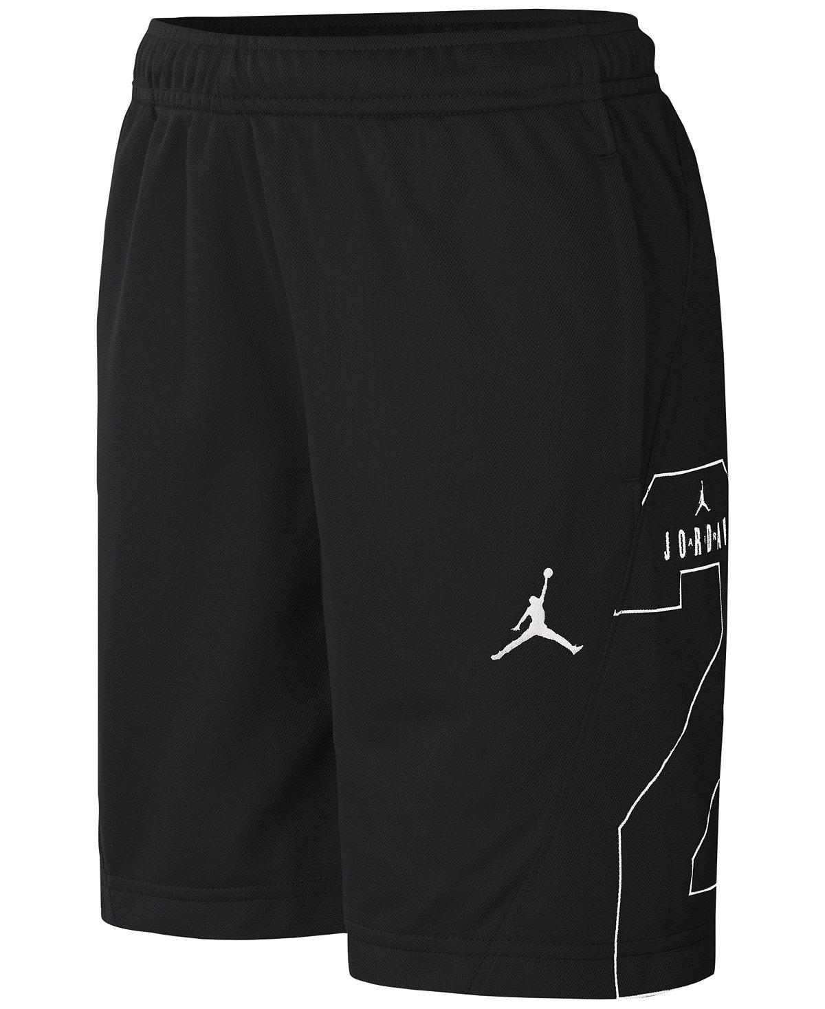 Nike Jordan Boys' Two-Three Basketball Shorts (5, Black (953961-023) / White/Black)