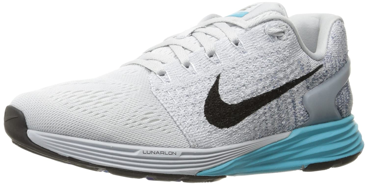 e1b4b84d1dc2 Nike Women s Lunarglide 7 Pr Platinum Blk GMM Bl Ocn Fg Running Shoe 6. 5  Women US  Buy Online at Low Prices in India - Amazon.in