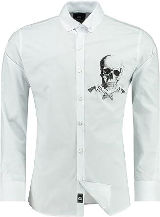 Black Rock - Camisa Casual - Clásico - para Hombre 5 - Weiß XXXXXL: Amazon.es: Ropa y accesorios