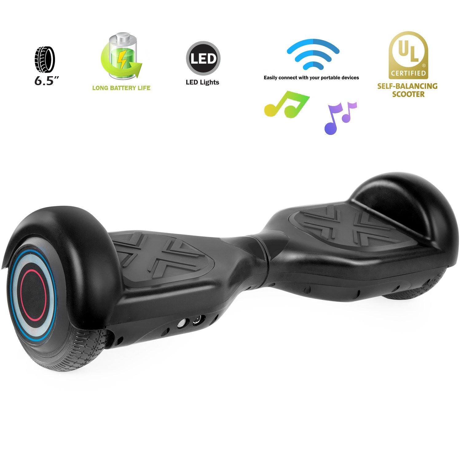 XPRIT Hoverboard w/Bluetooth Speaker (Black) by XPRIT (Image #5)