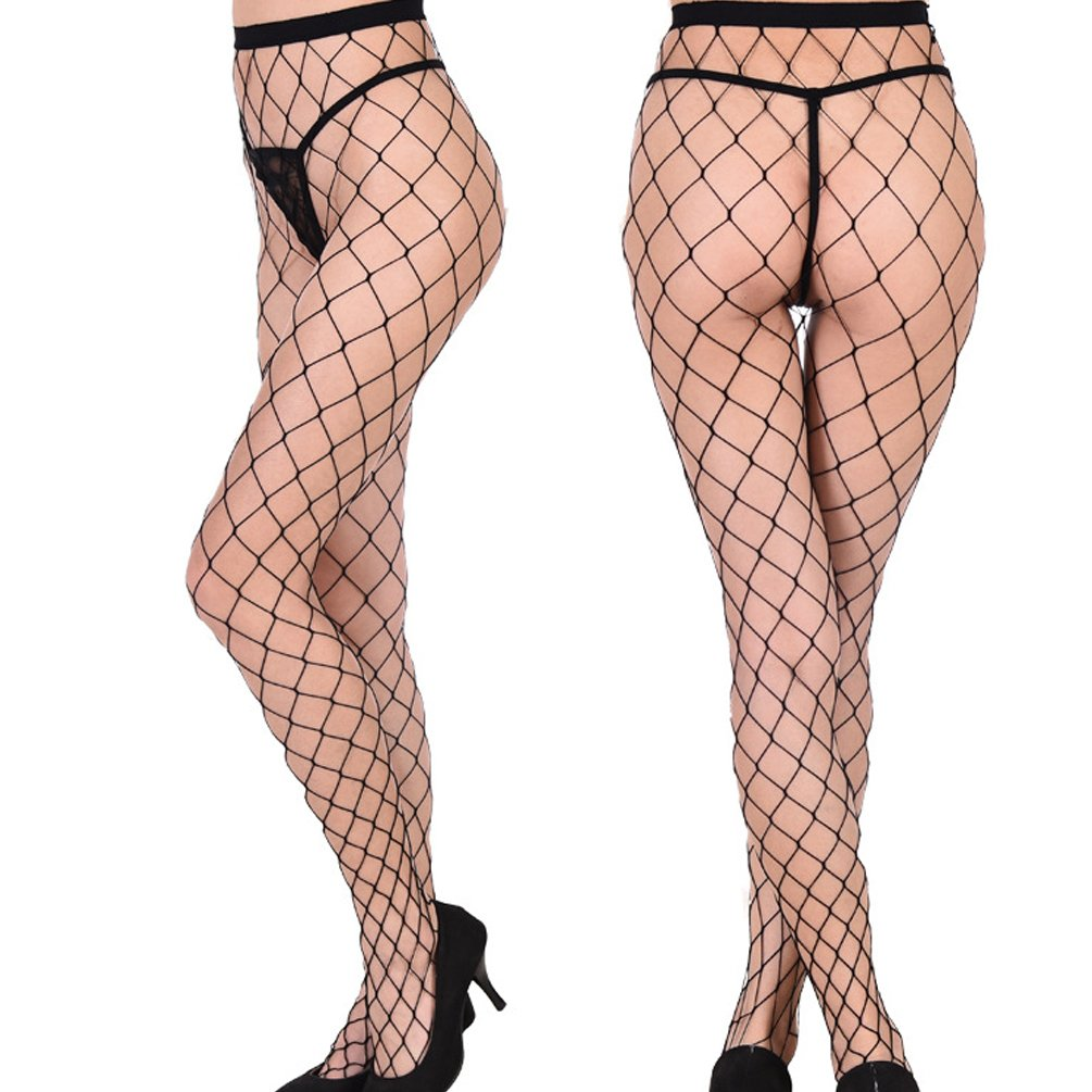 ENJOYNIGHT 3 Pairs Women's Hollow Out Fishnet Pantyhose Hight Tights (Type1)