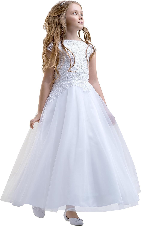 Lacey Bell Vestido Corto Primera Comunion Dama Honor Falda de Tul ...