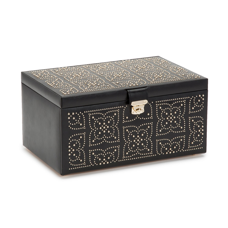 WOLF 308202 Marrakesh Large Jewelry Box, Black