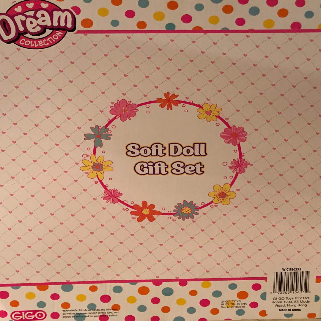 DREAM COLLECTION Soft Baby Doll Gift Set with A Plush Unicorn FTY LTD