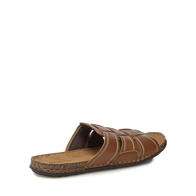 fake Tan leather 'Lagos 3' slip-on sandals cheap sale genuine 8DWIEjr