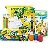 Crayola 绘儿乐 进口绘画文具 升级版可水洗7件套(含10色颜料 24色蜡笔 16色水彩笔 画刷 调色盘及收纳桶)YMX-008