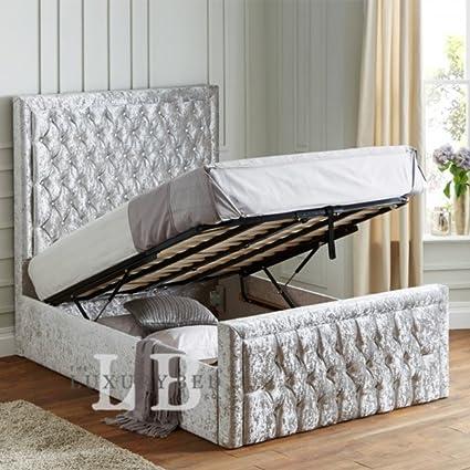 Sapphire cama de almacenamiento Otomano - Easy Lift Up base de ...