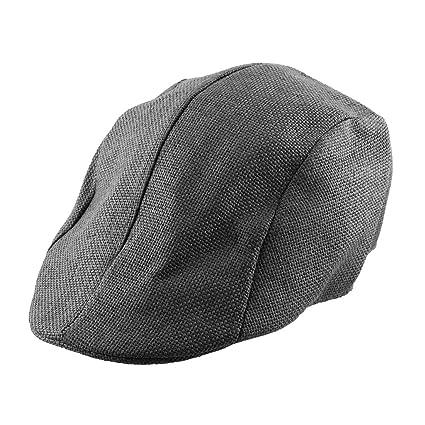 f3889938 uxcell Men Women Straw Ivy Cap Cabbie Driving Golf Summer Sun Mesh Flat  Beret Hat Black