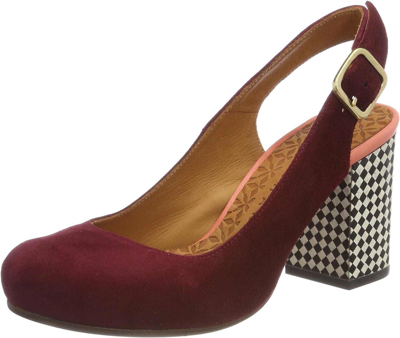 Chie Mihara Xica Ante Granate Damen-Schuhe Pumps Heels mit Absatz Rot Leder