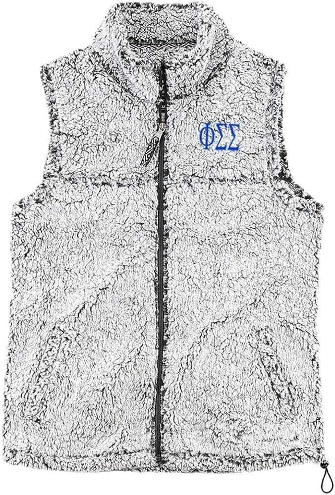 Phi Sigma Sigma Smoky Grey Sherpa Vest
