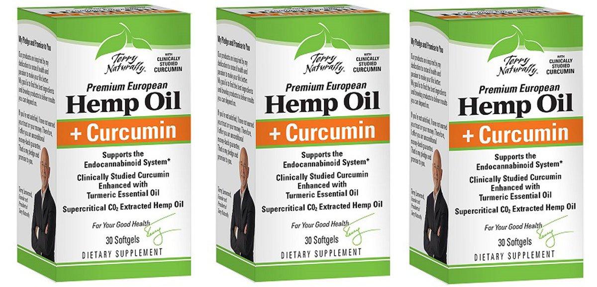 Europharma/Terry Naturally Hemp Oil Plus Curcumin Supports The Endocannabinoid System* 30 Soft Gels (3)
