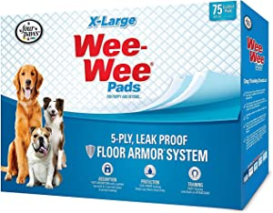 Four Paws Wee-Wee Pads for Dogs, X-Large 28x34 Inch, 75 Count, 2 Pack